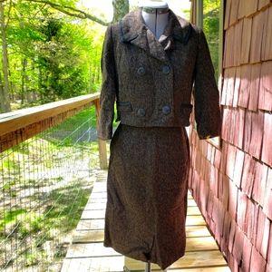 Vintage 1960s Myron Louis Wool Skirt Suit Set